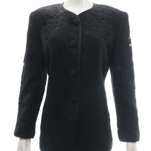 Evan Picone Black Lace Evening Jacket